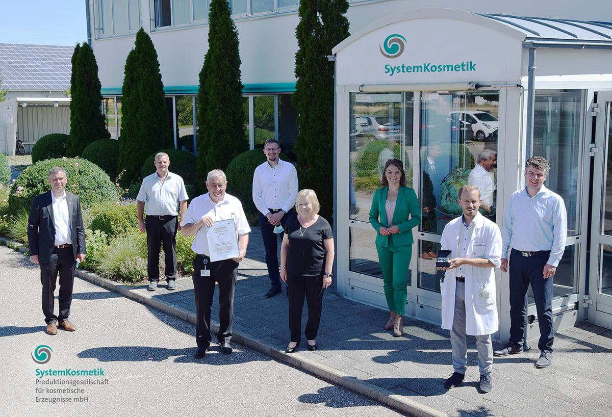 Siegerehrung des bayerischen RC-Wettbewerbs 2020 bei Systemkosmetik