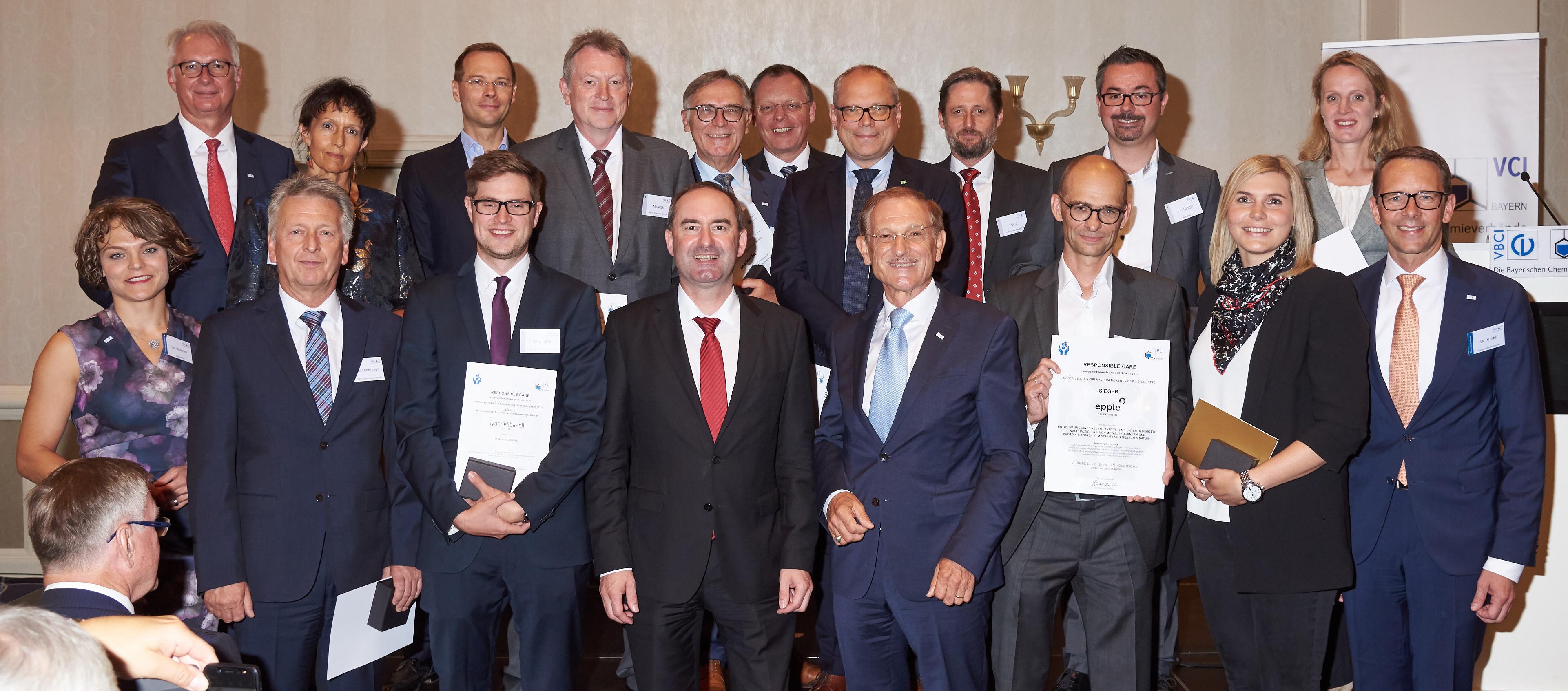 Siegerehrung des Responsible-Care Wettbewerbs 2019 Bayern am 12.07.2019