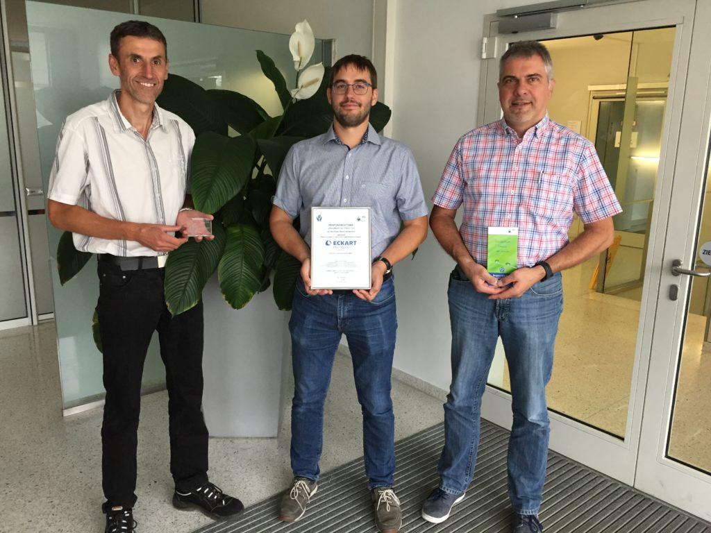 Die Projektverantwortlichen der ECKHART GmbH freuen sich über ihre Preise.